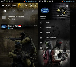 BBM Mod Counter Strike untuk android