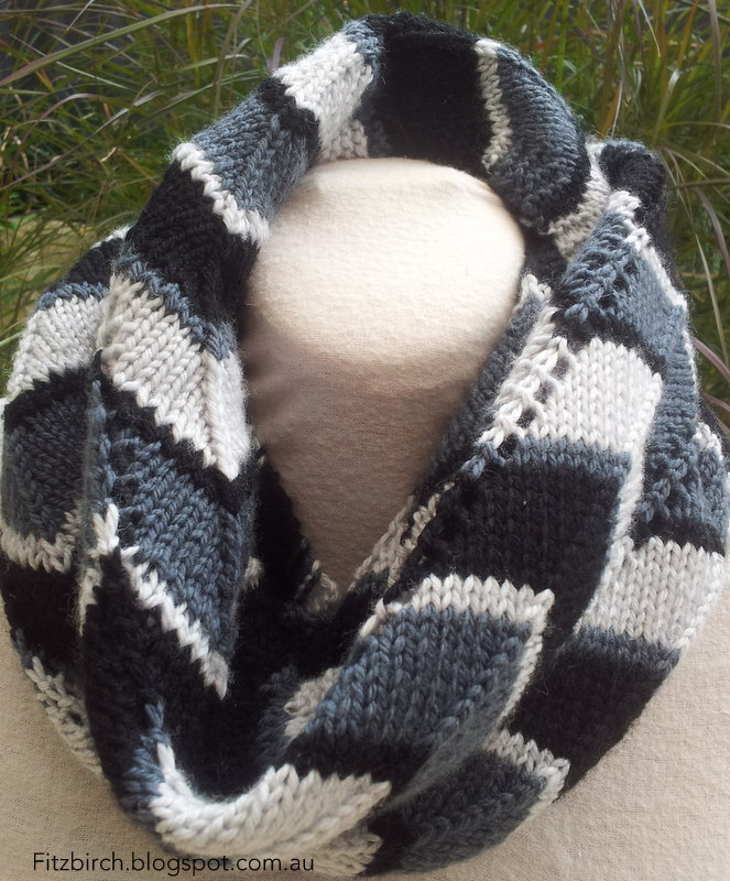 Fitzbirch Crafts Chevron Delight Infinity Scarf