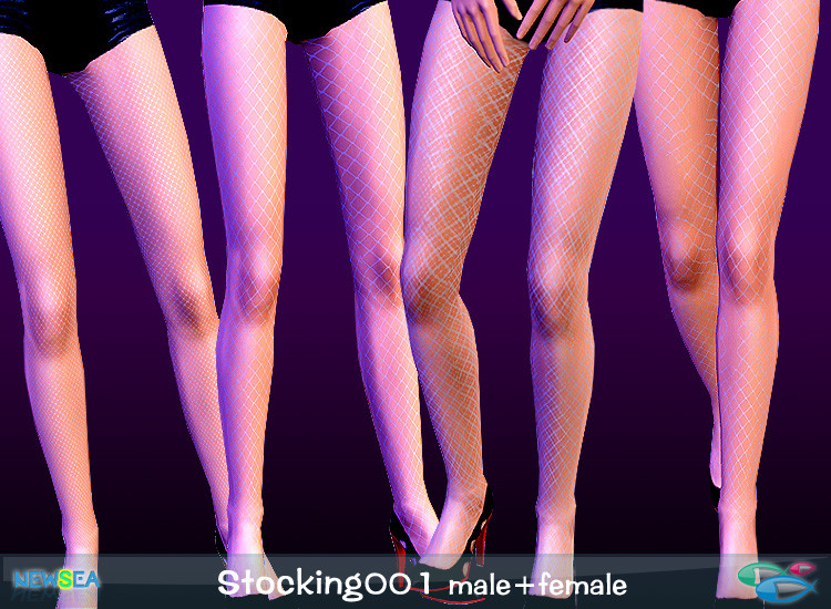 My Sims 3 Blog: Fishnet Stockings for Males & Females - 4 Styles