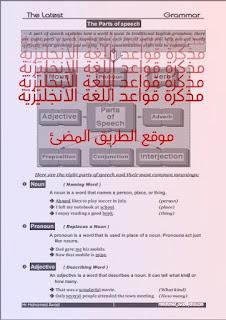 حمل مذكرة قواعد اللغة الانجليزية شرح واف وتدريبات بدون علامة مائية لمستر محمد عوض
