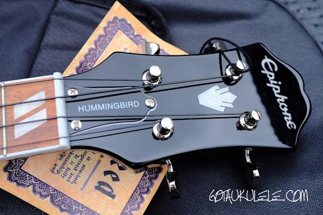 Epiphone Hummingbird Tenor Ukulele headstock