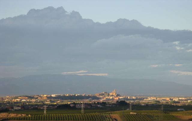 La Plana de Lleida, amb Lleida de fons.
