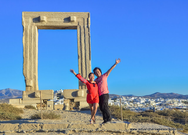 Ed and Lady in Naxos Portara
