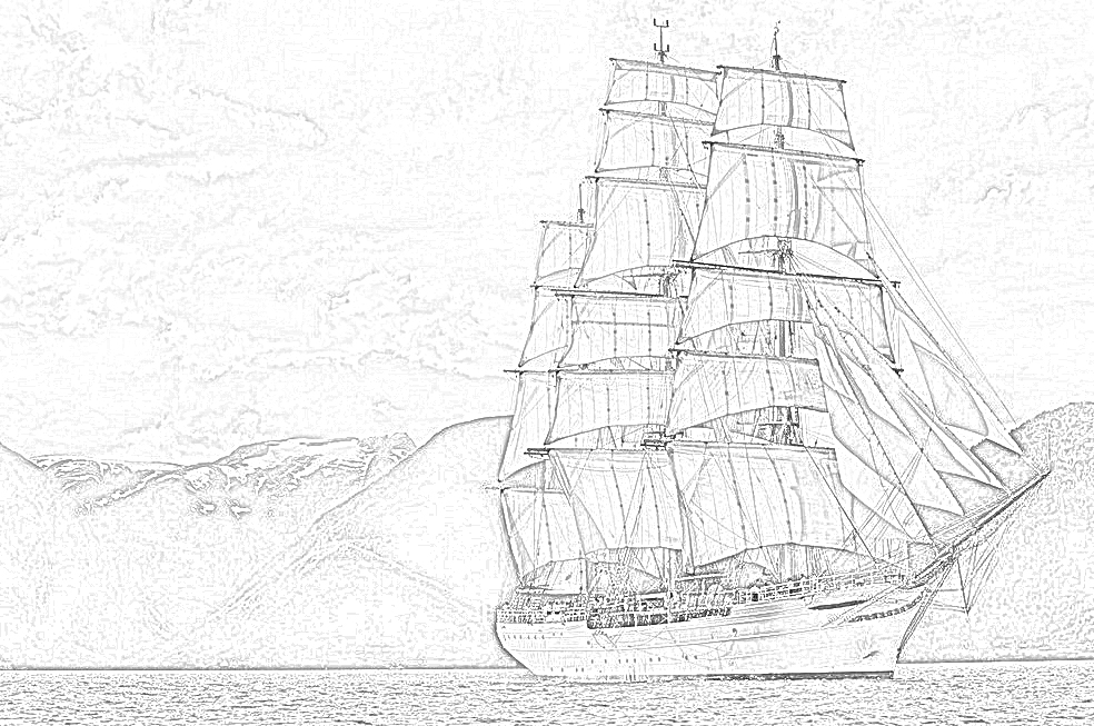 british sailing warship coloring pages - photo#7