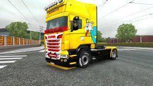 Swedish Power Yellow skin for Scania RJL
