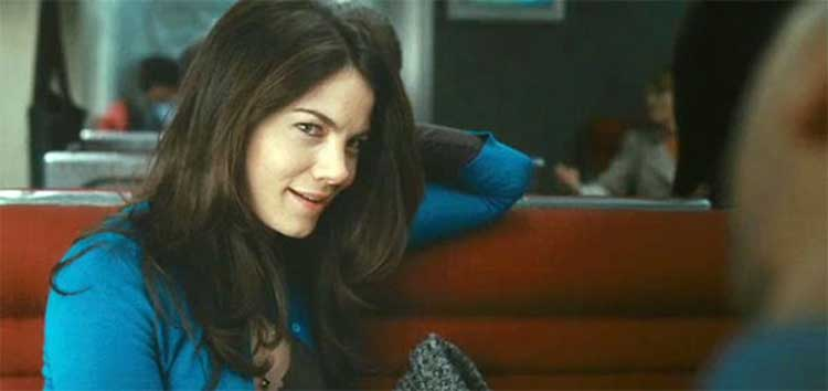 Michelle Monaghan rides the train in Duncan Jones' Source Code.