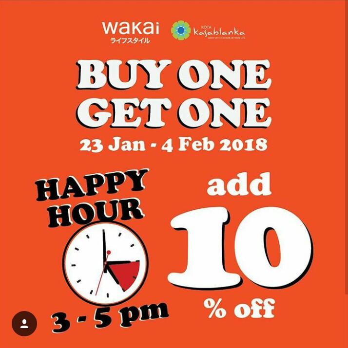 Promo Wakai Beli 1 Gratis 1 Januari - Februari 2018