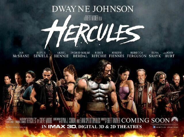 Hercules 2014 Poster starring Dwayne Johnson from http://teaser-trailer.com/