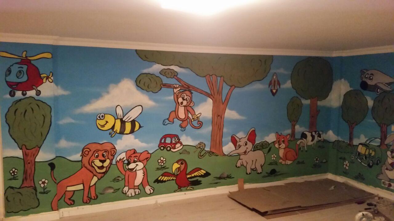 Anaokulu Kreş Duvar Boyama Sanati 3 Duvar Boyama Sanatı