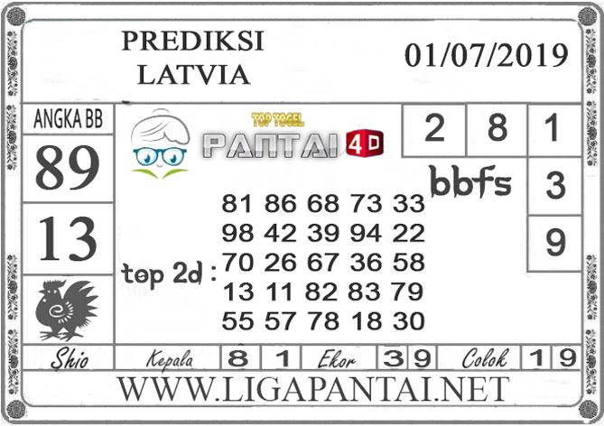"""PREDIKSI TOGEL """"LATVIA"""" PANTAI4D 01 JULI 2019"""