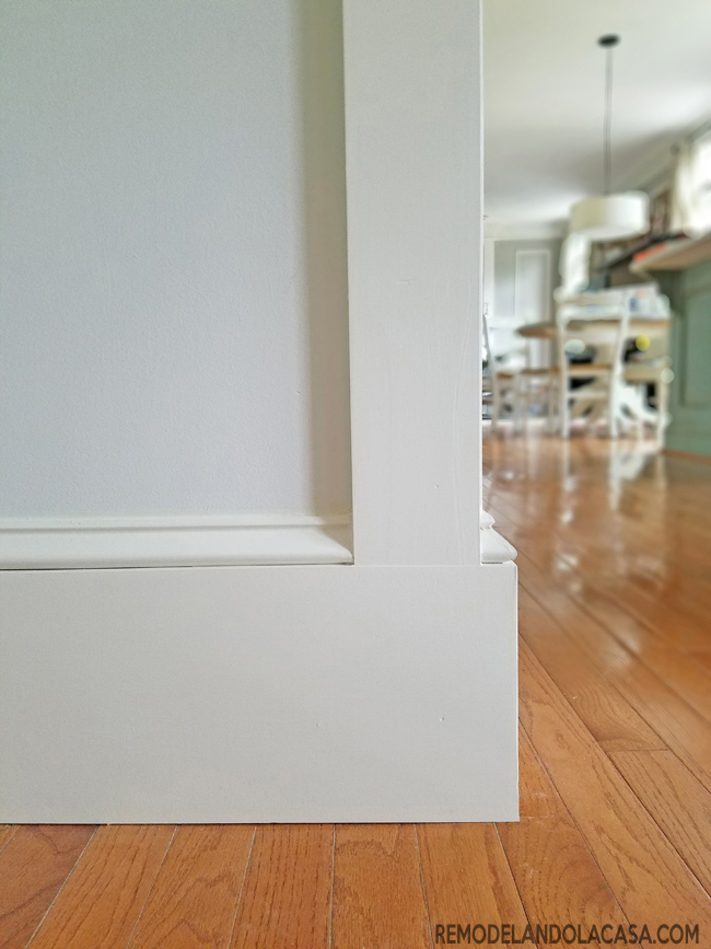 baseboard meets door trim solution