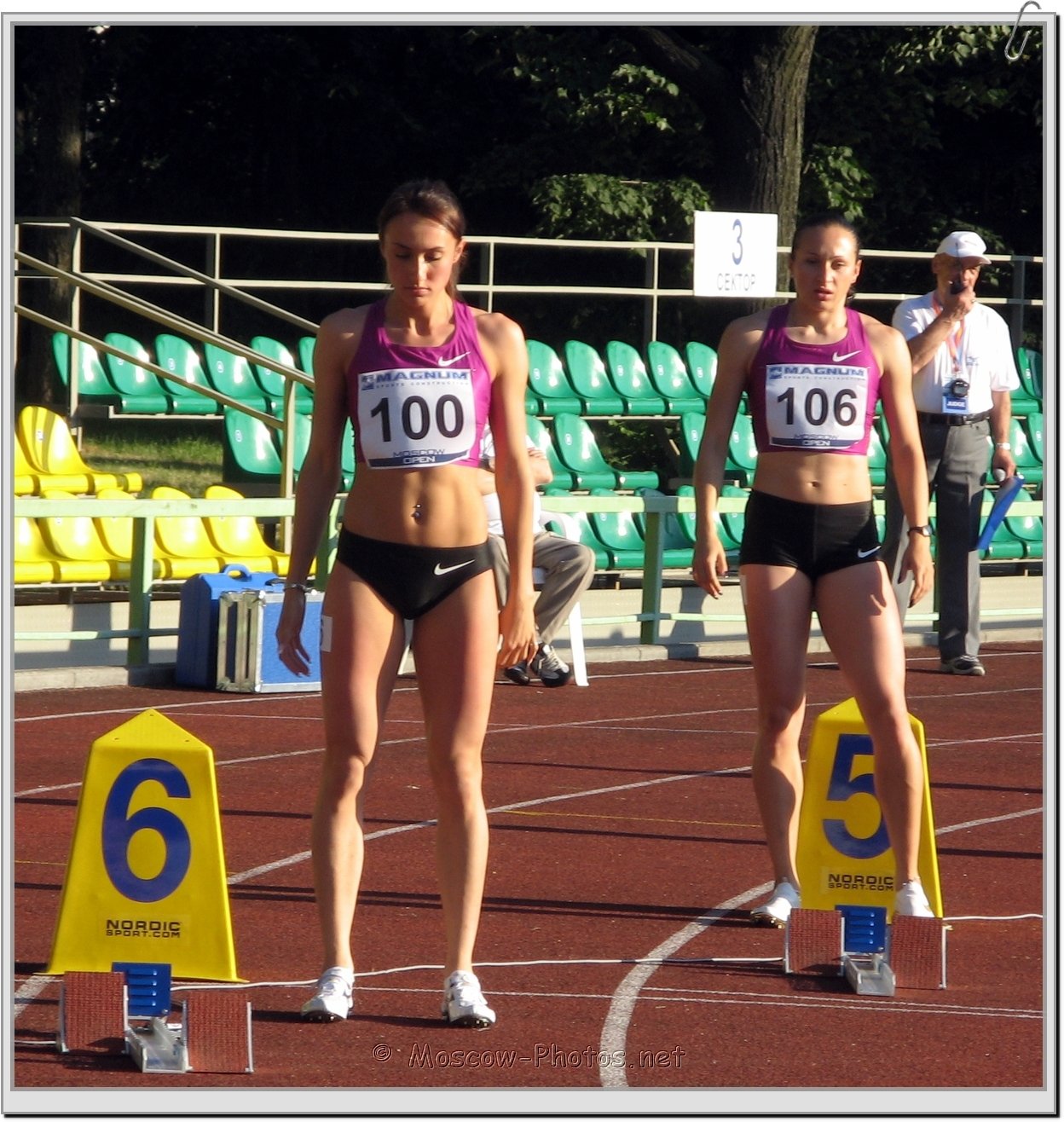 Preparation To Start Race at Moscow Athletics Open 2010