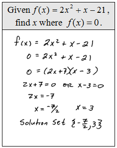 OpenAlgebra.com: Solving Equations by Factoring