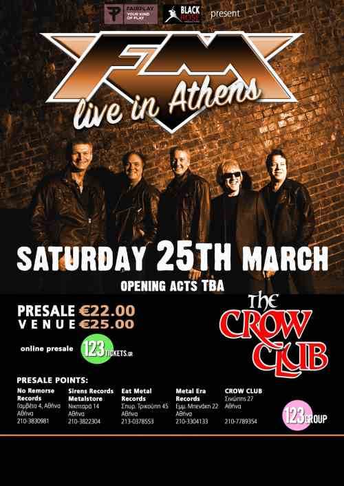 FM: Σάββατο 25 Μαρτίου @ The Crow Club