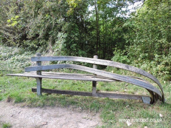 Poetry bench near Goodmanham