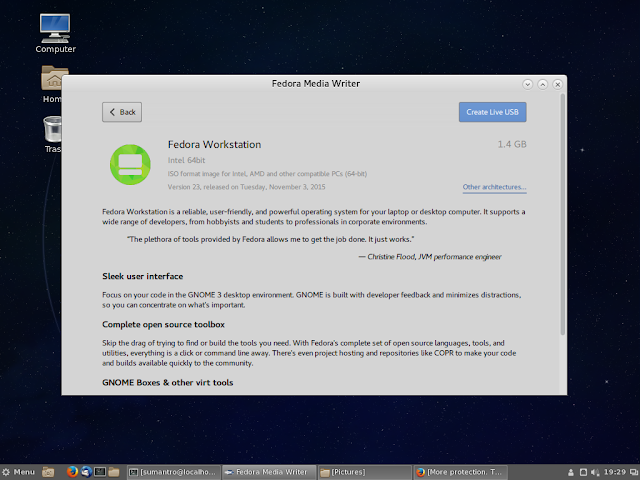 Fedora 25 Image Writer