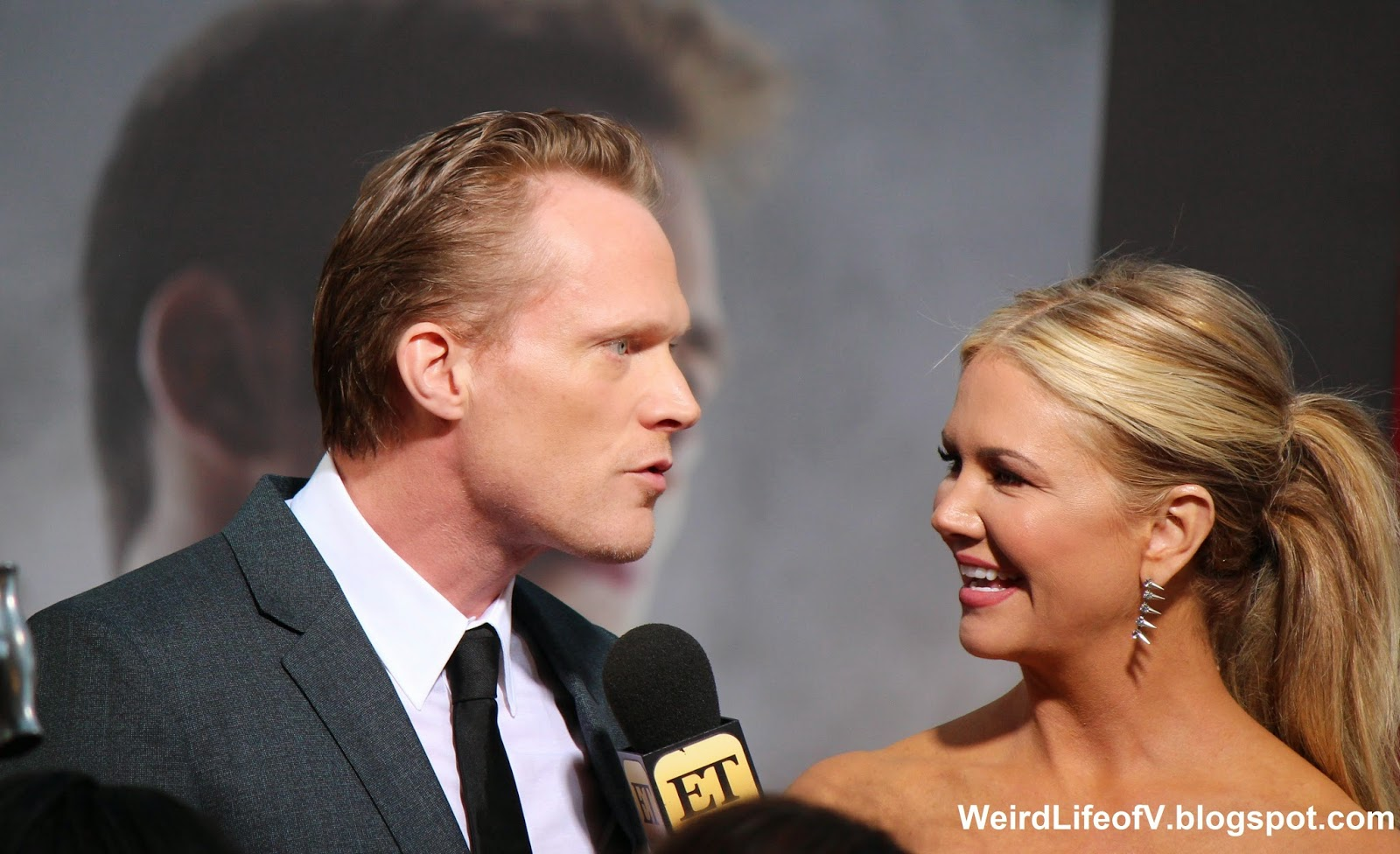 Paul Bettany being interviewed by Nancy O'Dell