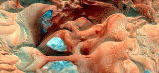 fotografía surrealista abstracta desiertos arena aire tierras, fondo mar