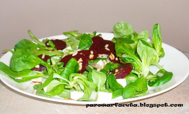 sałatka slowfood, vege, wegetariańska sałatka na parze