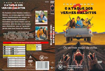 O Ataque dos Vermes Malditos 2 - Os Vermes Estão de Volta DVD Capa