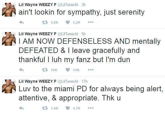 Lil Wayne gives up, says he's retiring from music