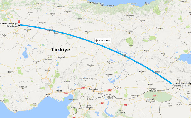Şırnak'tan Ankara'ya uçak bileti