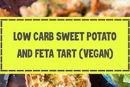 Low Carb Sweet Potato & Feta Tart (Vegan)