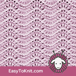 Old Shale Chevron Lace Knitting - Easy To Knit