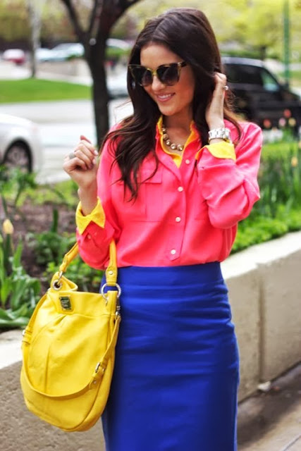 street style: classy neon colours combination