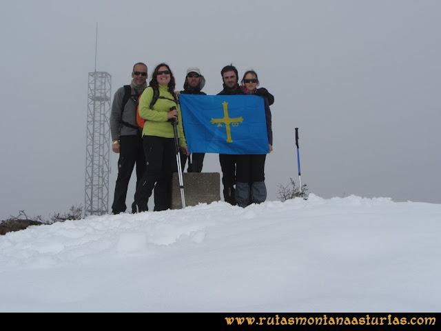 Pico Ranero: Cima del pico Ranero