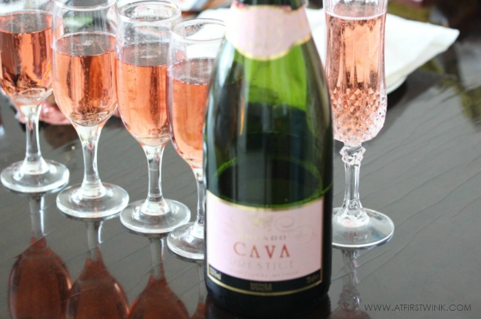 Marks & Spencer Rosado cava prestige brut in crystal glasses