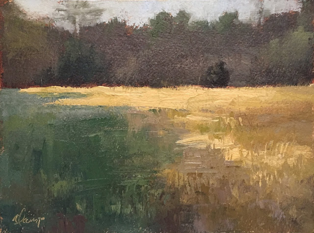 Secret Light landscape painting 6x8 Apr 18 2019