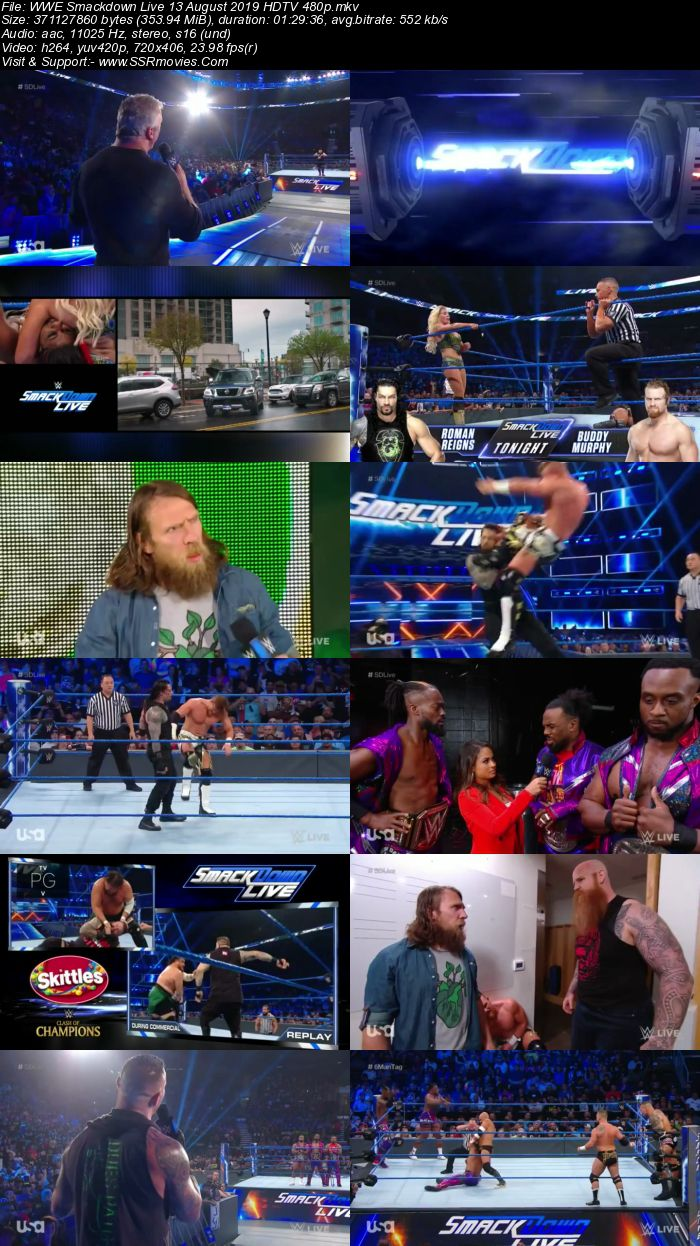 WWE Smackdown Live 13 August 2019 Full Show Download 480p 720p HDTV WEBRip