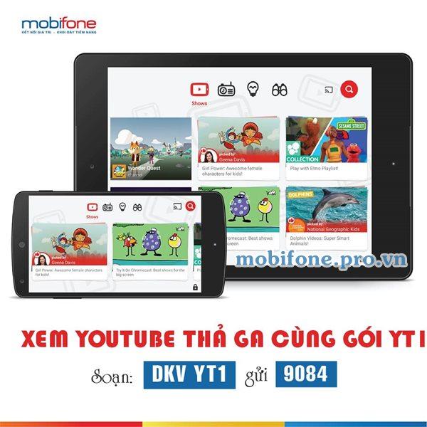 Đăng ký gói YT1 Mobifone, xem Youtube 01 ngày