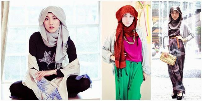24 gaya model hijab jilbab terbaru