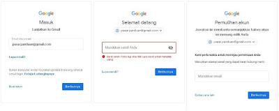 cara mengembalikan kata sandi gmail dengan email pemulihan