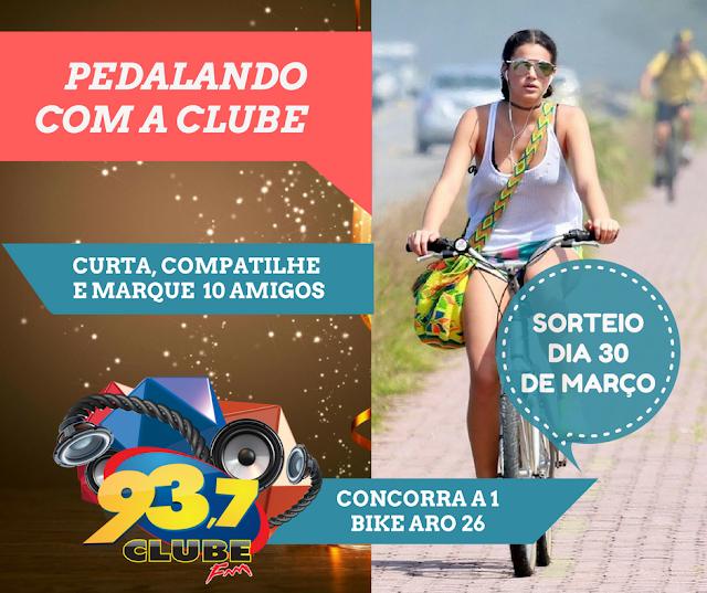 Fature uma super Bike aro 26 na Promoção Pedalando com a Clube FM 93.7