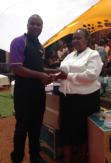 Zenzele Counselling Centre - Hollywoodbets Lenz Station - Donation Handover