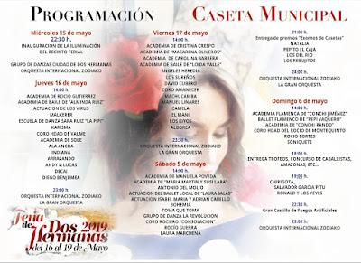 Dos Hermanas - Feria 2019 - Programa Caseta Municipal