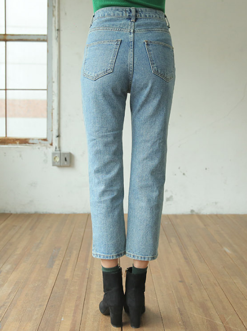 Slim Cropped High-Rise Jeans