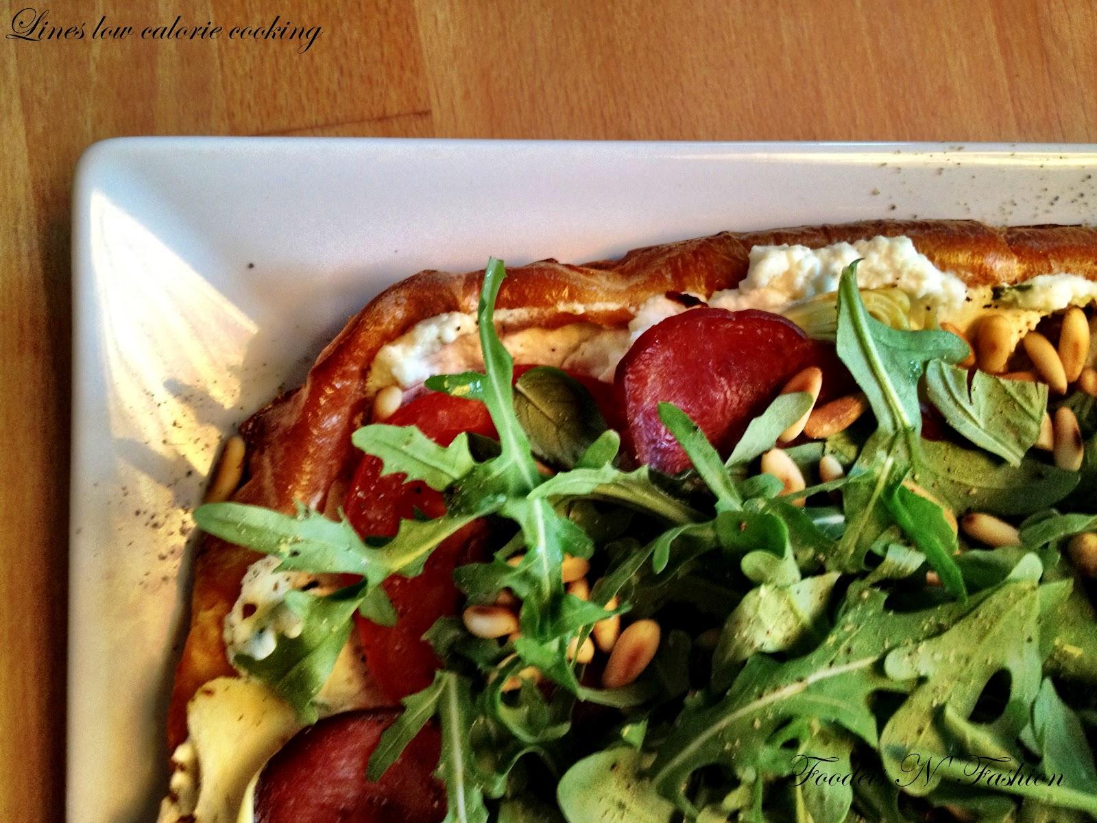 Foodies N' Fashion: Sommerpizza med ricotta, rucola og kalkunbacon