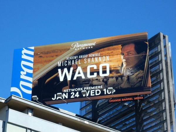 Waco series premiere billboard