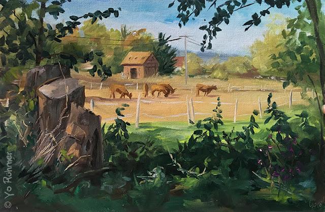 pleinairpainting, Cows