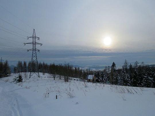 Widokowe polany na zejściu do Krościenka.