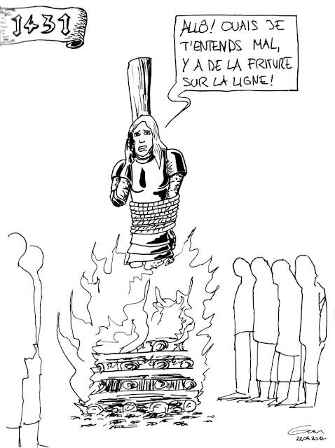 Jeanne d'Arc qui frit et a Free