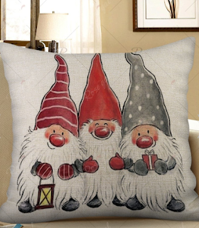 Christmas Santa Claus Print Decorative Sofa Linen Pillowcase