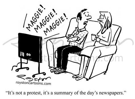 Royston Cartoons: Topical cartoon: Death of Margaret Thatcher