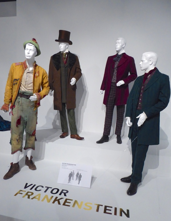 Victor Frankenstein movie costume display