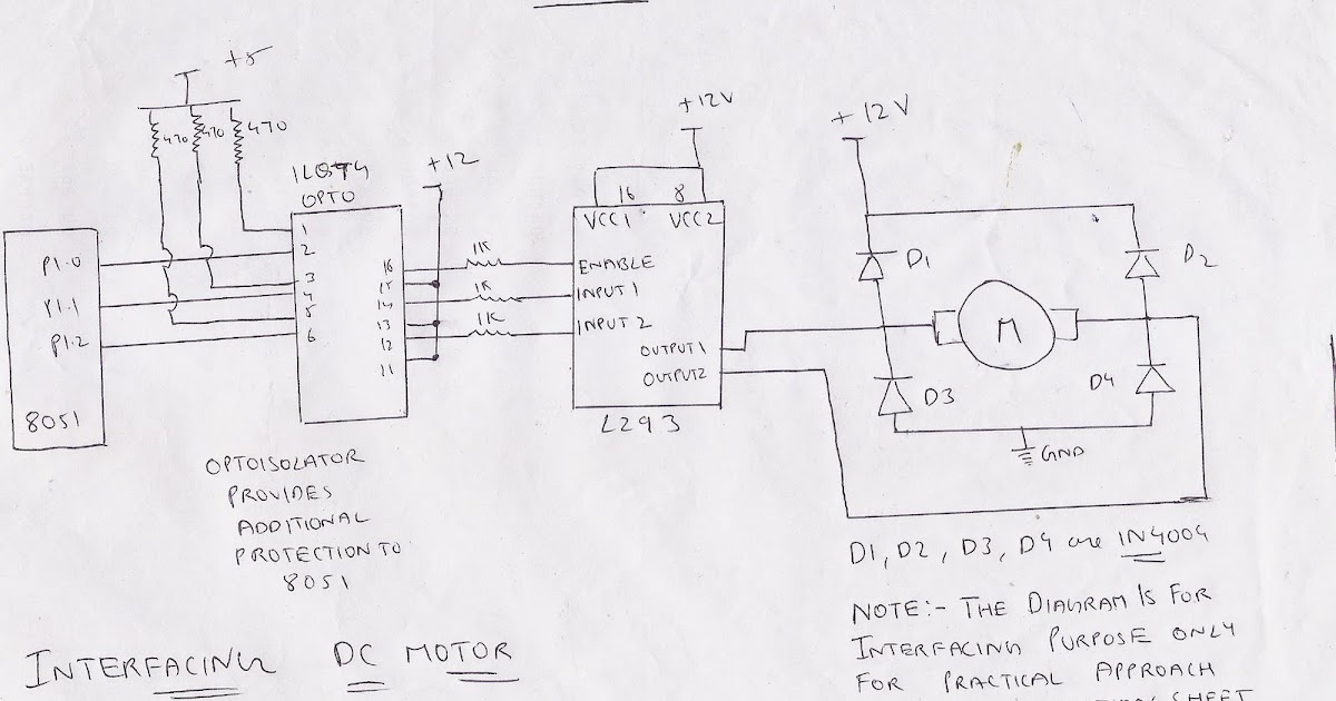 stepper motor in microprocessor