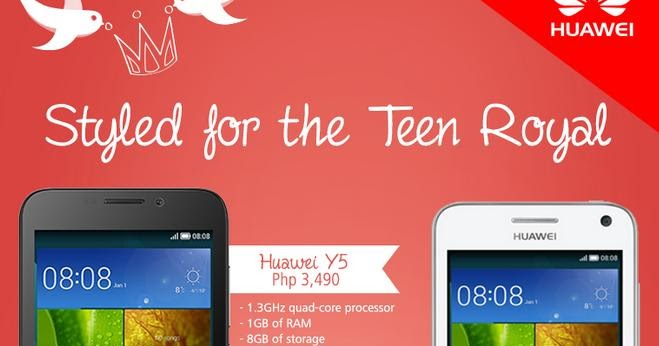 Huawei Y5/Y3 Quad-core Phones Landed at P3,490/P2,890 in Philippines